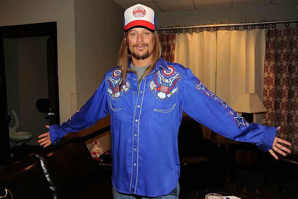 "Kid Rock -- who's got the big job of hosting the whole shebang -- looked ready to go as he posed in his dressing room backstage. Kevin Mazur/<a href=""http://www.wireimage.com"" target=""new"">WireImage.com</a> - June 8, 2011"
