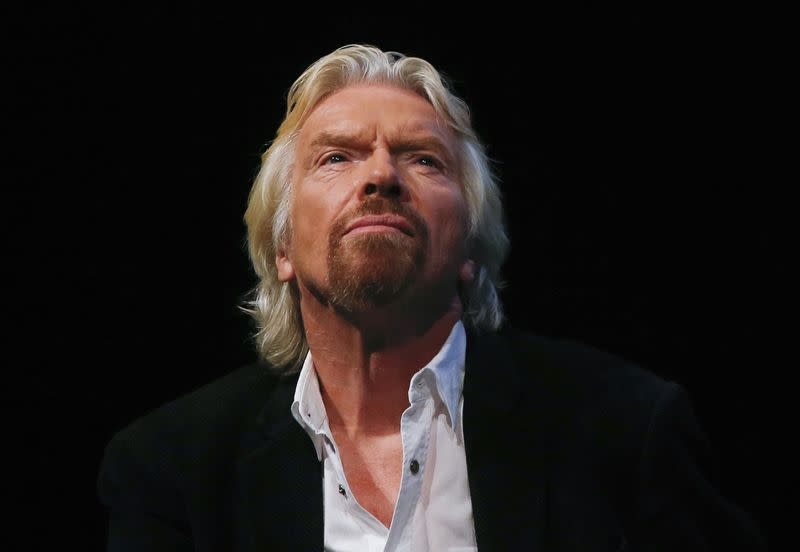 File photo of Sir Richard Branson listening to a speaker at the Global Commission on Drug Policy in New York