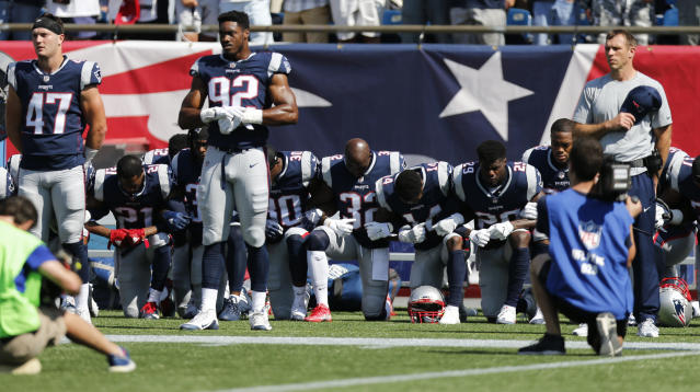 "When President Donald Trump said he'd like the NFL to fire any ""son of a bitch"" player who kneels during the national anthem, political pundits, NFL owners, and sports commentators were outraged."