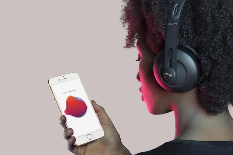 Tube-friendly: the £349 Nuraphone is said to adjust sound for the user's hearing