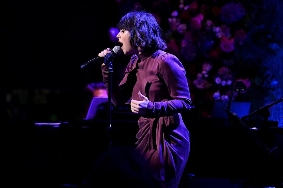 """<p>In 2019, New York City's famed Public Theater put on an adaptation of Disney's <strong>Hercule</strong><strong>s</strong>. Rodriguez was cast as fast-talking heroine Megara, putting her own spin on the '90s favorite """"I Won't Say I'm In Love."""" She even performed <a href=""""http://www.youtube.com/watch?v=GHkdtMCin-s"""" class=""""link rapid-noclick-resp"""" rel=""""nofollow noopener"""" target=""""_blank"""" data-ylk=""""slk:a duet version of the iconic song"""">a duet version of the iconic song</a> with the OG voice of Meg, Susan Egan, at a concert the same year!</p>"""