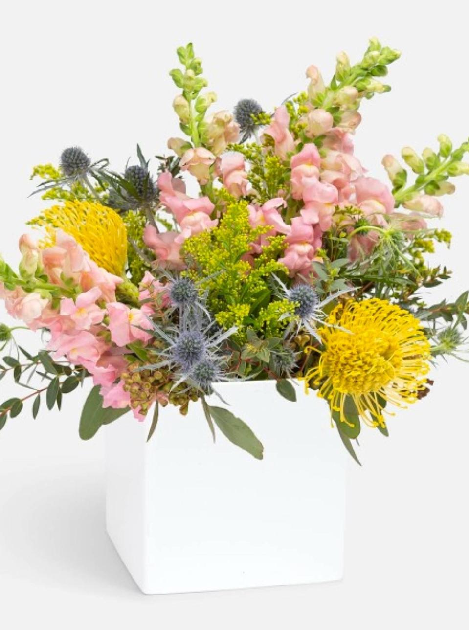 "Talk about a pastel dream. PlantShed hand-delivers its fresh blooms in adorable vases for New York City and New Jersey locals—and if you're in the area, you'll be forgiven for ordering last-minute. Same-day delivery options are available if you're in a pinch, as is local pickup at any one of its four locations in Manhattan and New Jersey. $95, Smiles In Sydney. <a href=""https://www.plantshed.com/smiles-in-sydney"" rel=""nofollow noopener"" target=""_blank"" data-ylk=""slk:Get it now!"" class=""link rapid-noclick-resp"">Get it now!</a>"