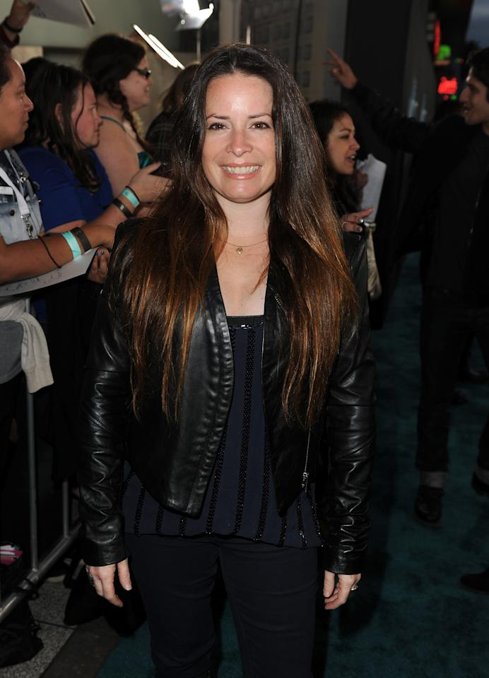 "HOLLYWOOD, CA - MARCH 19:  Actress Holly Marie Combs attends the premiere of Open Road Films ""The Host"" at ArcLight Cinemas Cinerama Dome on March 19, 2013 in Hollywood, California.  (Photo by Kevin Winter/Getty Images)"