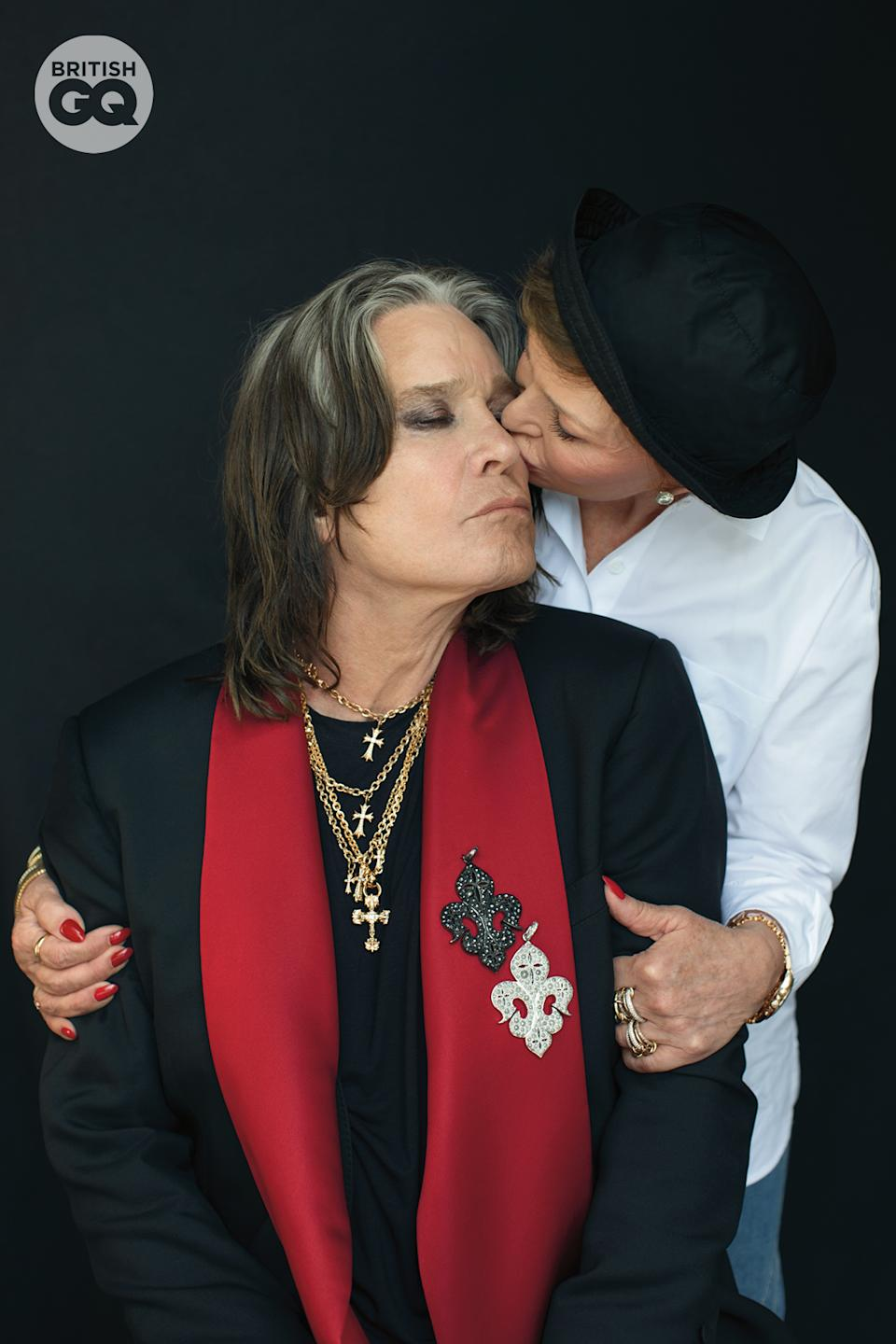 Ozzy and Sharon Osbourne were photographed for British GQ (Pamela Littky/GQ/PA)