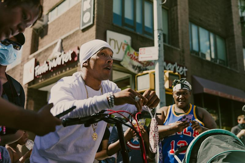 Korey Wise of the 'Exonerated Five' in New York City on May 30. | Mark Clennon
