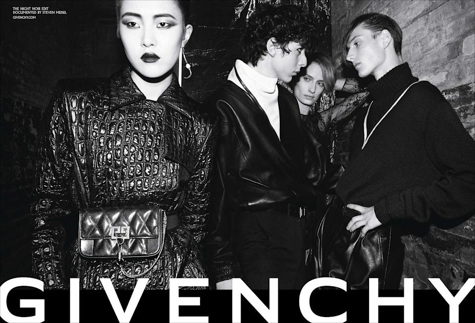 <p><strong>Models:</strong> Karolin Wolter, Sohyun Jung, Veronika Kunz, Massima Lei, Alexis Sundman, Tamy Glauser <br><strong>Photographer:</strong> Steven Meisel<br>(Photo: Courtesy of Givenchy) </p>