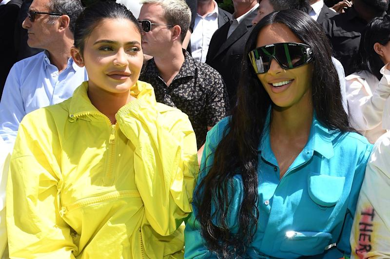 Defending: Kylie Jenner with her sister Kim Kardashian: Pascal Le Segretain/Getty