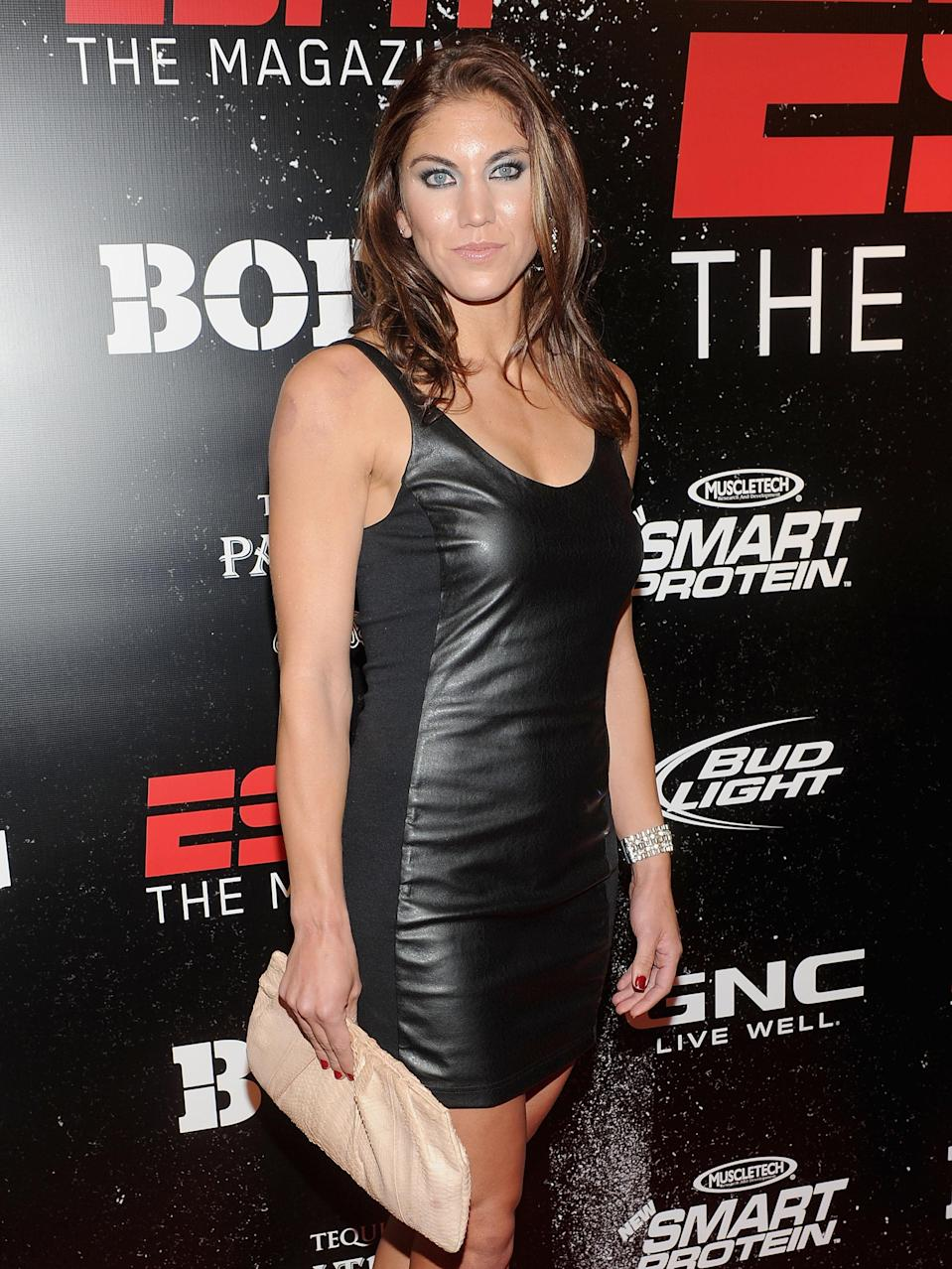 Hope Solo attends ESPN the Magazine's 3rd annual Body Issue party at Highline Stages on October 6, 2011 in New York City. (Photo by Jamie McCarthy/Getty Images)