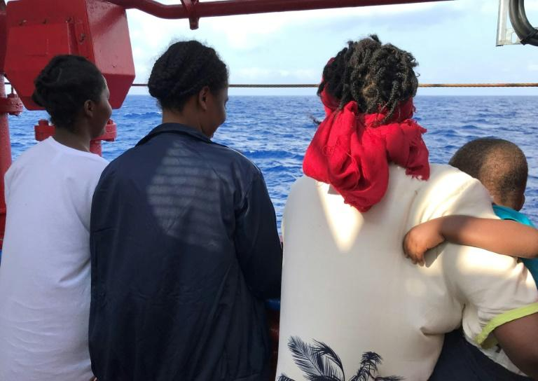 """""""With the Libyans, it was pain. Just beatings, beatings,"""" she told AFP aboard the Ocean Viking after her rescue on Friday"""