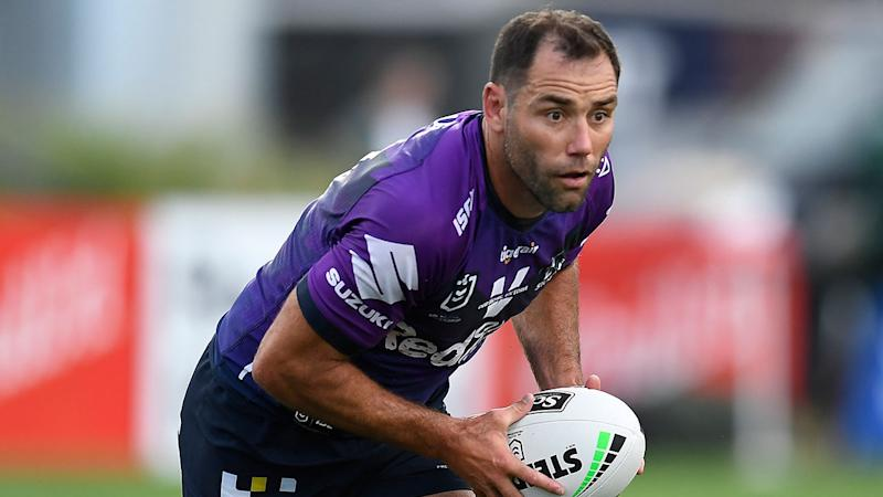 Seen here, Cam Smith in action against Manly in round 16 of the NRL.