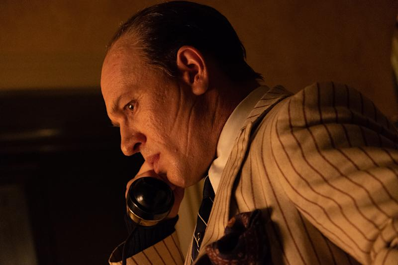 Hardy went through an extreme physical makeover to play Al Capone in 'Capone' (Photo: Alan Markfield/Vertical Entertainment)