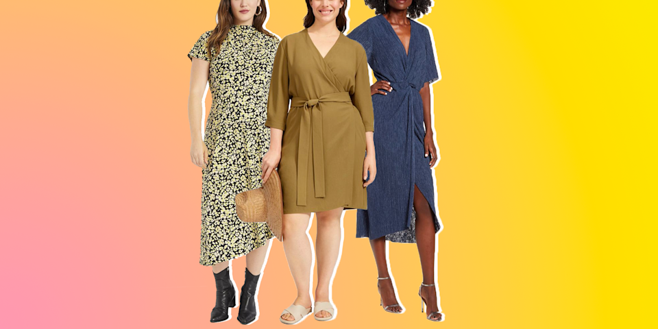 """<p>What's easier than throwing on a cute dress? The one-and-done garment is an outfit in itself and with spring in our sight, we are more than ready to shelve our <a href=""""https://www.oprahmag.com/style/g29752080/cozy-sweatpants-women/"""" rel=""""nofollow noopener"""" target=""""_blank"""" data-ylk=""""slk:sweats"""" class=""""link rapid-noclick-resp"""">sweats</a> and <a href=""""https://www.oprahmag.com/style/g31745808/hoodies-for-women/"""" rel=""""nofollow noopener"""" target=""""_blank"""" data-ylk=""""slk:hoodies"""" class=""""link rapid-noclick-resp"""">hoodies</a> to greet the warm weather.<br> <br>Seasonal print favorites such as flowers, polka dots, and stripes will make a strong showing this year, while <a href=""""https://www.oprahmag.com/style/g34822486/fashion-trends-2021/"""" rel=""""nofollow noopener"""" target=""""_blank"""" data-ylk=""""slk:spring trends"""" class=""""link rapid-noclick-resp"""">spring trends</a> like knit textures, puff sleeves, and bright colors are also represented in our round-up of the cutest spring dresses. There's no shortage of special details either, including smocking, pleats, and wrap fronts. <br> <br>Whether you're in the market for a casual boho maxi to pair with your favorite <a href=""""https://www.oprahmag.com/style/g28185294/best-leather-jackets-women/"""" rel=""""nofollow noopener"""" target=""""_blank"""" data-ylk=""""slk:moto jacket"""" class=""""link rapid-noclick-resp"""">moto jacket</a> and <a href=""""https://www.oprahmag.com/style/g25893553/best-sandals-for-women/"""" rel=""""nofollow noopener"""" target=""""_blank"""" data-ylk=""""slk:comfy sandals"""" class=""""link rapid-noclick-resp"""">comfy sandals</a>, or a romantic number to rock with a <a href=""""https://www.oprahmag.com/style/g25806066/best-denim-jackets/"""" rel=""""nofollow noopener"""" target=""""_blank"""" data-ylk=""""slk:denim jacket"""" class=""""link rapid-noclick-resp"""">denim jacket</a> and <a href=""""https://www.oprahmag.com/style/g27244181/best-white-sneakers-for-women/"""" rel=""""nofollow noopener"""" target=""""_blank"""" data-ylk=""""slk:white sneakers"""" class=""""link rapid-noclick-resp"""">white sneakers</a>, these dresses—fro"""