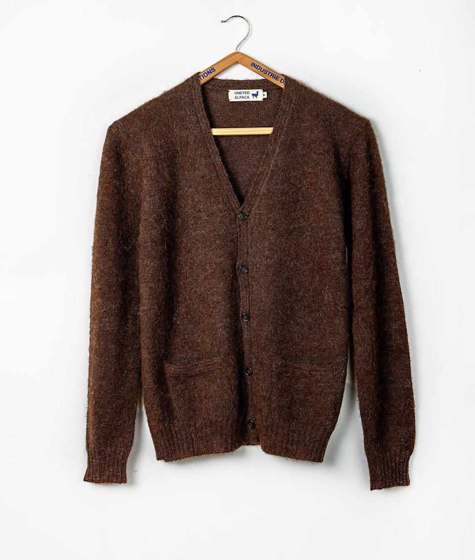 """<h2>Industry Of All Nations Alpaca Cardigan</h2><br>""""It's soft, warm, not too thick, excellent alpaca wool, and goes with basically everything I own. It's got a classic loose fit so you can wear it either over your pants or tucked in. Super cute with a colorful silk tank top, or simply with a long sleeve top. I love classic wardrobe items (i.e. a great fitting pair of blue jeans, a crisp white shirt, etc. ) that are made with high-quality materials because it means you'll be able to wear it for years to come. It's also perfect for these times when you need something that looks cute without being sweatpants. Well spent money IMO."""" – <em><a href=""""https://www.instagram.com/elsa_jenna/"""" rel=""""nofollow noopener"""" target=""""_blank"""" data-ylk=""""slk:Elsa Jenna"""" class=""""link rapid-noclick-resp"""">Elsa Jenna</a>, Design Director</em><br><br><em>Shop <strong><a href=""""https://industryofallnations.com/collections/all"""" rel=""""nofollow noopener"""" target=""""_blank"""" data-ylk=""""slk:Industry Of All Nations"""" class=""""link rapid-noclick-resp"""">Industry Of All Nations</a></strong></em><br><br><strong>Industry of All Nations</strong> Industry Of All Nations Alpaca Cardigan, $, available at <a href=""""https://go.skimresources.com/?id=30283X879131&url=https%3A%2F%2Findustryofallnations.com%2Fcollections%2Fsweaters%2Fproducts%2Falpaca-cardigan-sweater"""" rel=""""nofollow noopener"""" target=""""_blank"""" data-ylk=""""slk:Industry Of All Nations"""" class=""""link rapid-noclick-resp"""">Industry Of All Nations</a>"""