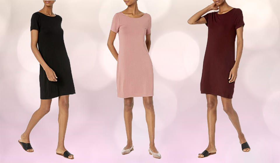 This gorgeous dress is available in nine stunning shades. (Photo: Amazon)
