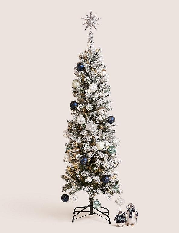 6ft Lit Slim Snowy Christmas Tree. (Marks & Spencer)