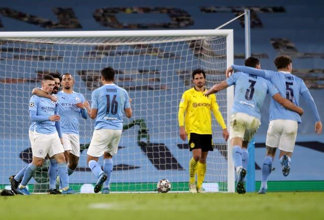 Dortmund were beaten at the Etihad Stadium by a late Phil Foden goal