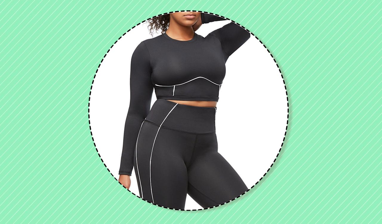 <p>Get in shape this year with Good American's stylish plus-size activewear. (Photo: Good American; art: Yahoo Lifestyle photo-illustration) </p>