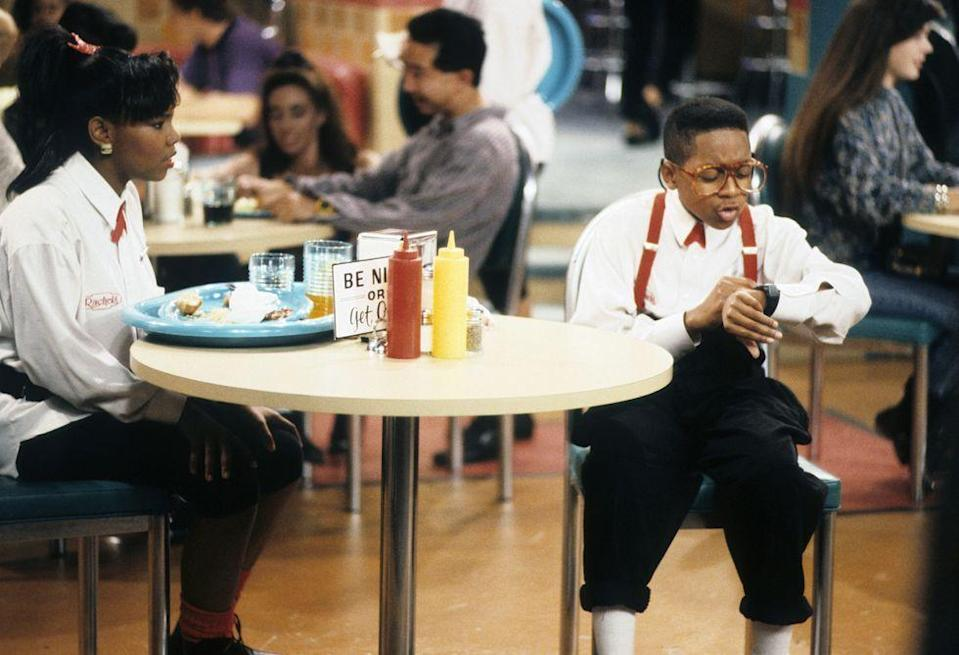 <p>Originally, it was Leroy's Place that served as the <em>Family Matters </em>teen hangout spot and was where Laura Winslow and Steve Urkel worked together slinging burgers and fries. But in a later episode, Urkel accidentally burned the place down. Rachel comes up with an idea to rebuild the establishment and, with the help of Urkel, Rachel opens the diner and calls it Rachel's Place. </p>