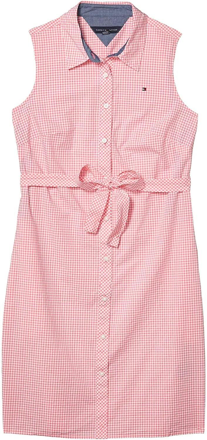 <p>Style this <span>Tommy Hilfiger Sleeveless Shirt Dress</span> ($39) with sneakers for a sporty chic look.</p>