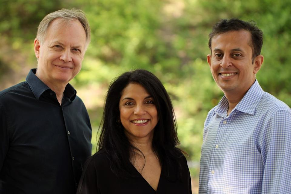Hardskills co-founders (l-r) Anthony Hayward, Shoba Purushothaman, and Krish Menon.
