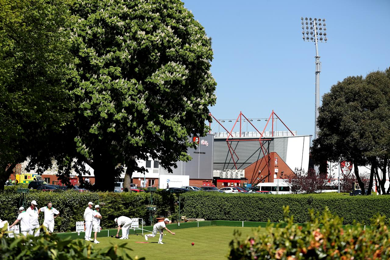 <p>Bowls players enjoy the perfect weather near the stadium before the Premier League match at the Vitality Stadium, Bournemouth. (Picture: PA) </p>