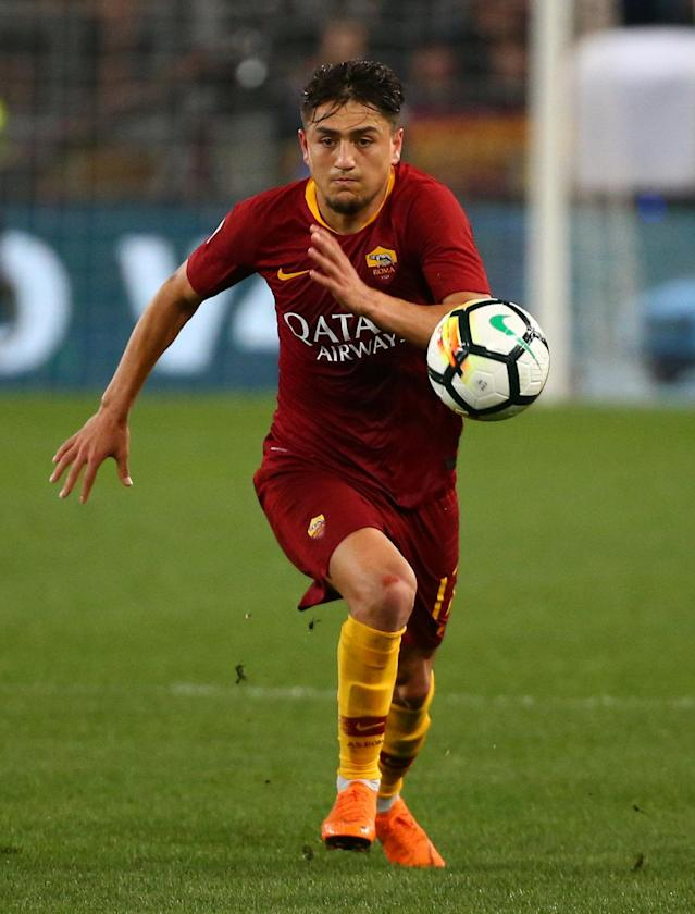 Soccer Football - Serie A - AS Roma vs Juventus - Stadio Olimpico, Rome, Italy - May 13, 2018 Roma's Cengiz Under in action REUTERS/Alessandro Bianchi
