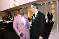 <p><em>SNL</em> star Kenan Thompson chatted with <em>Last Week Tonight</em> host John Oliver, perhaps about how to elicit maximum laughs.</p>