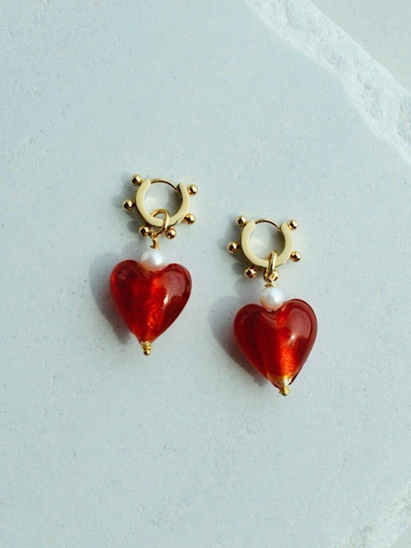 """Playful and versatile, these heart-drop earrings can be worn on their own or mixed with other studs and huggies. $42, Notte. <a href=""""https://nottejewelry.com/earrings/love-at-first-sight-earrings-r6mrk"""" rel=""""nofollow noopener"""" target=""""_blank"""" data-ylk=""""slk:Get it now!"""" class=""""link rapid-noclick-resp"""">Get it now!</a>"""