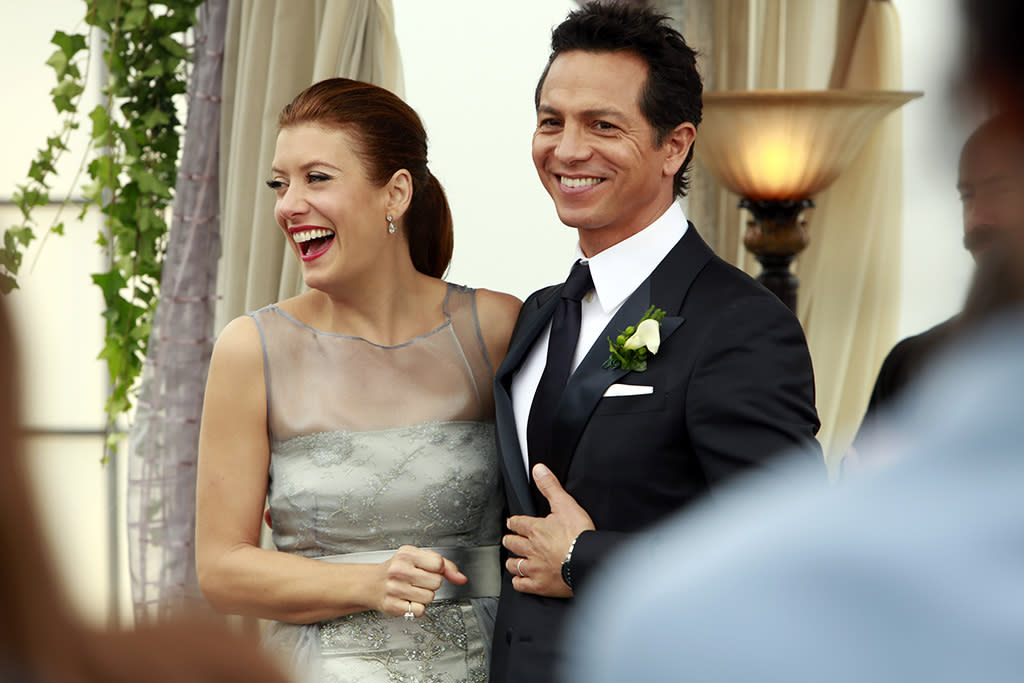 The wedding of Addison Montgomery (Kate Walsh) and Jake Reilly (Benjamin Bratt) on ?Private Practice? (2013).
