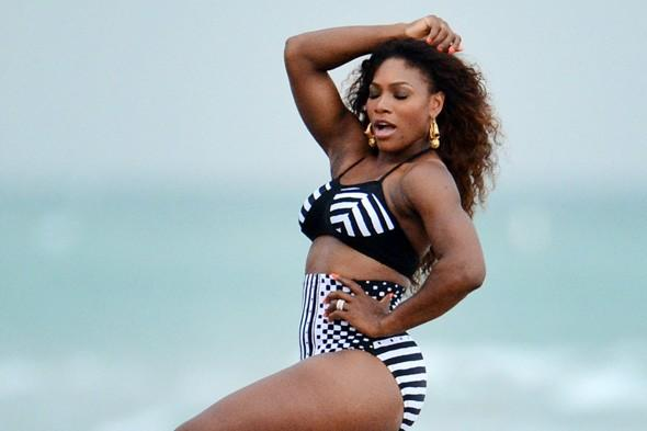 Serena Williams frolics on Miami Beach