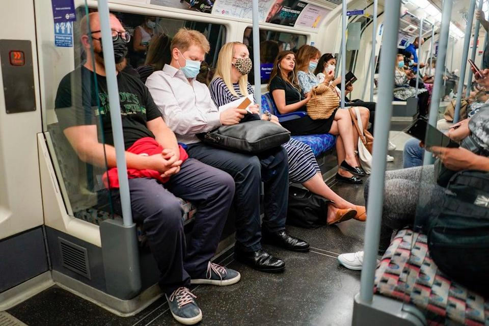 More Londoners board the Tube again as Underground hits pandemic high (AP)