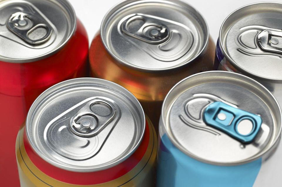 """<p>Similarly, energy drinks are often amped up with oodles of sugar—and caffeine that can cause undue stress to your heart. </p><p>And get this: Just one 16-ounce energy drink can elevate blood pressure and stress hormones coursing through the body, according to research published in the<em> <a href=""""https://newsnetwork.mayoclinic.org/discussion/mayo-clinic-study-one-energy-drink-may-increase-heart-disease-risk-in-young-adults/"""" rel=""""nofollow noopener"""" target=""""_blank"""" data-ylk=""""slk:Journal of the American Medical Association"""" class=""""link rapid-noclick-resp"""">Journal of the American Medical Association</a>. </em>""""This could predispose an increased risk of cardiac events—even in healthy people,"""" one of the researchers <a href=""""https://newsnetwork.mayoclinic.org/discussion/mayo-clinic-study-one-energy-drink-may-increase-heart-disease-risk-in-young-adults/"""" rel=""""nofollow noopener"""" target=""""_blank"""" data-ylk=""""slk:told the Mayo Clinic"""" class=""""link rapid-noclick-resp"""">told the Mayo Clinic</a>.</p>"""