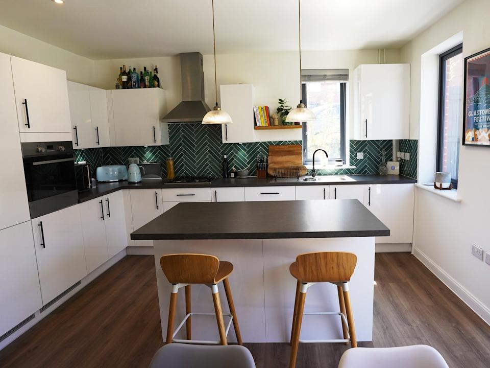 A view of the kitchen inside the £750,000 Coulsdon townhouse being raffled off for £3 (Yumi Palmer)