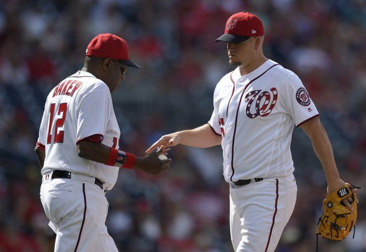 The Nationals bullpen has been pretty awful in 2017. (AP Photo)