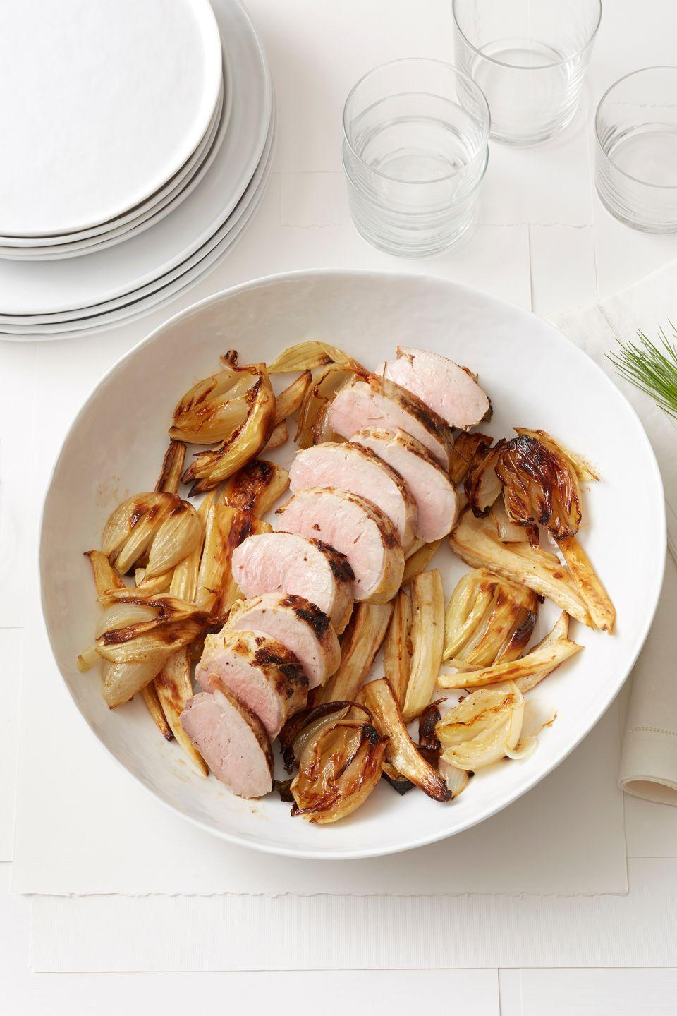 """<p>When using vibrant spices such as cloves, bay leaves, and peppercorns in dishes, keep in mind that a little goes a long way — as in this delightful pork tenderloin.</p><p><strong><a href=""""https://www.countryliving.com/food-drinks/recipes/a1052/spiced-pork-tenderloin-3159/"""" rel=""""nofollow noopener"""" target=""""_blank"""" data-ylk=""""slk:Get the recipe"""" class=""""link rapid-noclick-resp"""">Get the recipe</a>.</strong></p>"""
