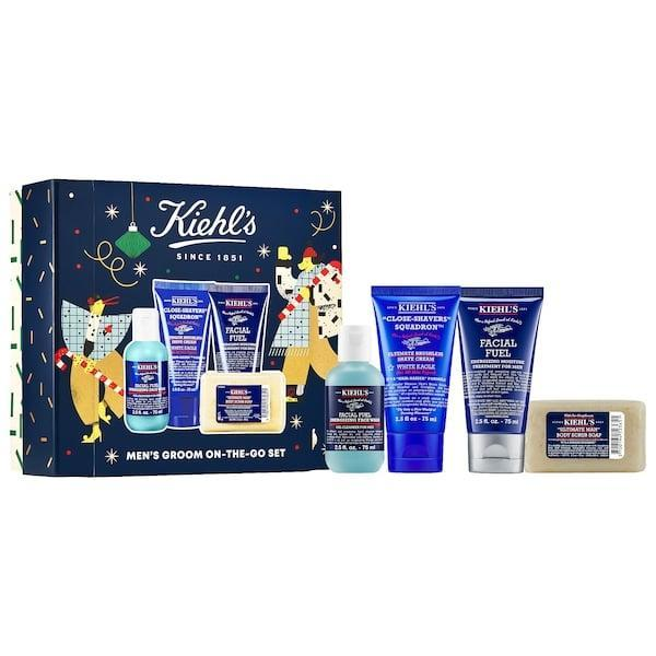 """<p>The name of this gift pack - <span>Kiehl's Since 1851 Men's Groom On The Go</span> ($40) - says it all, but it's not just for frequent flyers (since who's doing much of that this year). This set makes a nice introduction to the line or, you can share the wealth and split them up giving the caffeine-infused face wash or energizing moisture treatment to a coffee-lover and the brushless shave cream to the <a href=""""https://www.popsugar.com/smart-living/best-gifts-men-45684857"""" class=""""link rapid-noclick-resp"""" rel=""""nofollow noopener"""" target=""""_blank"""" data-ylk=""""slk:well-groomed guy"""">well-groomed guy</a> instead.</p>"""