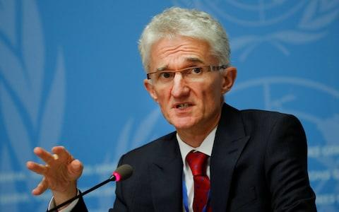Mark Lowcock, a UN official, warns of disaster in Idlib - Credit: REUTERS/Denis Balibouse