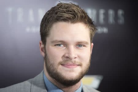 """Actor Jack Reynor arrives for the premiere of the movie """"Transformers: Age of Extinction"""" in New York June 25, 2014. REUTERS/Carlo Allegri"""