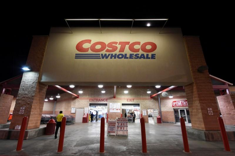 A Costco Wholesale retail club is photographed in Austin, Texas, U.S.