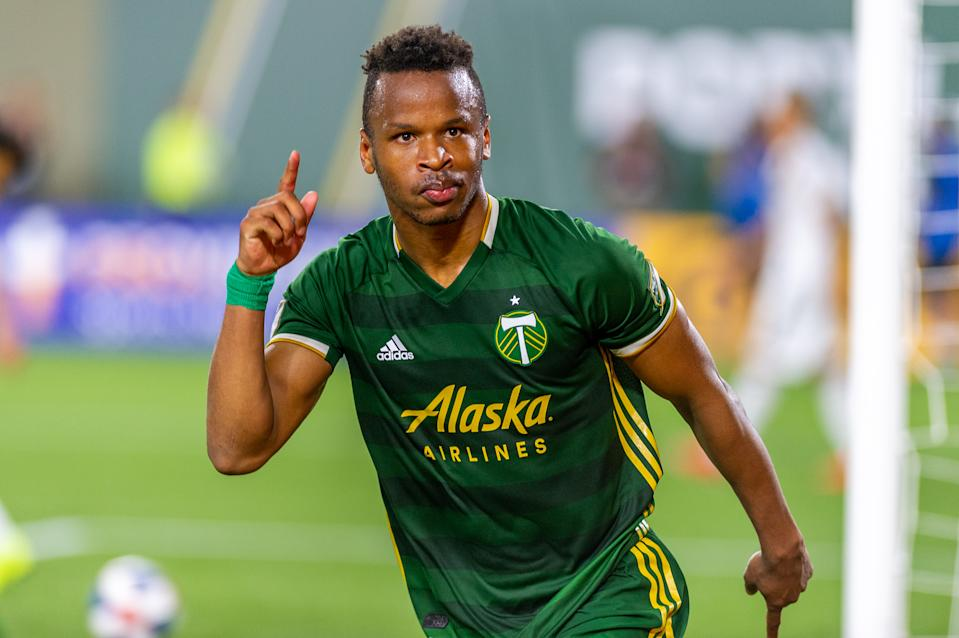 PORTLAND, OR - JULY 27: Portland Timbers forward Jeremy Ebobisse scores the fourth and final goal during the Portland Timbers 4-0 victory over the LA Galaxy at Providence Park, on July 27, 2019, in Portland, OR (Photo by Diego G Diaz/Icon Sportswire via Getty Images).