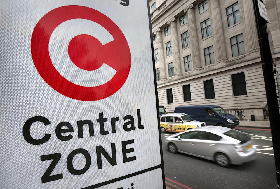A so-called 'temporary' 30% increase in the fee for driving into central London will be made permanent under Transport for London plans (Philip Toscano/PA) (PA Archive)