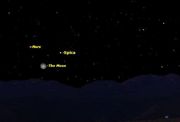 Moon, Mars and Star Team Up in Sky Tonight: How to See It