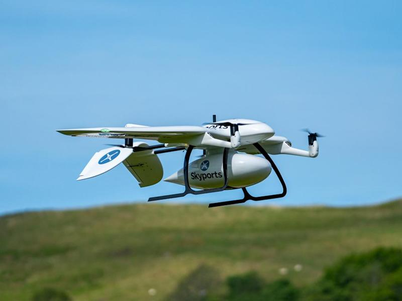 UK using drones to send coronavirus tests to remote Scottish islands