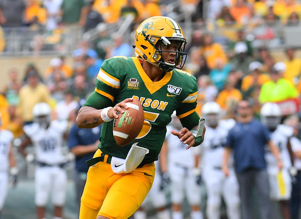 North Dakota State QB Trey Lance could be a target for the Washington Football Team in the draft. (Photo by Sam Wasson/Getty Images)
