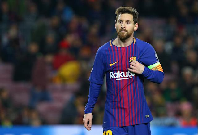 <p>Messi has won the award five times, just like Ronaldo. </p>