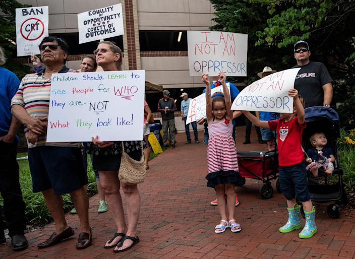 Rally Against Critical Race Theory in Leesburg, Va., June 12, 2021.