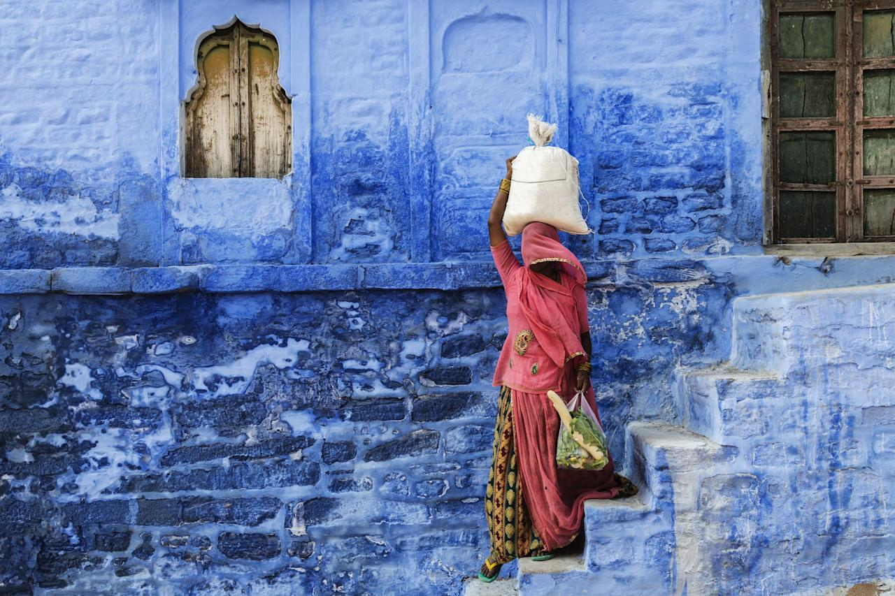 "You can find all sorts of shades of blue in this Rajasthani city's old town, which much like Morocco's <a href=""https://www.cntraveler.com/galleries/2015-08-21/moroccos-best-kept-secret-is-this-all-blue-village?mbid=synd_yahoo_rss"" target=""_blank"">Chefchaouen</a> is painted almost entirely in the color. Wander the streets to find the perfect corner to match Pantone's choice."