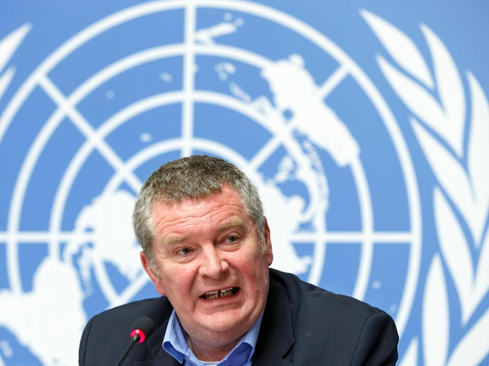 <p>Dr Mike Ryan, executive director of WHO's health emergencies programme, has warned vaccines will not prevent a short-term rise in coronavirus cases</p> (Salvatore Di Nolfi/Keystone/AP)