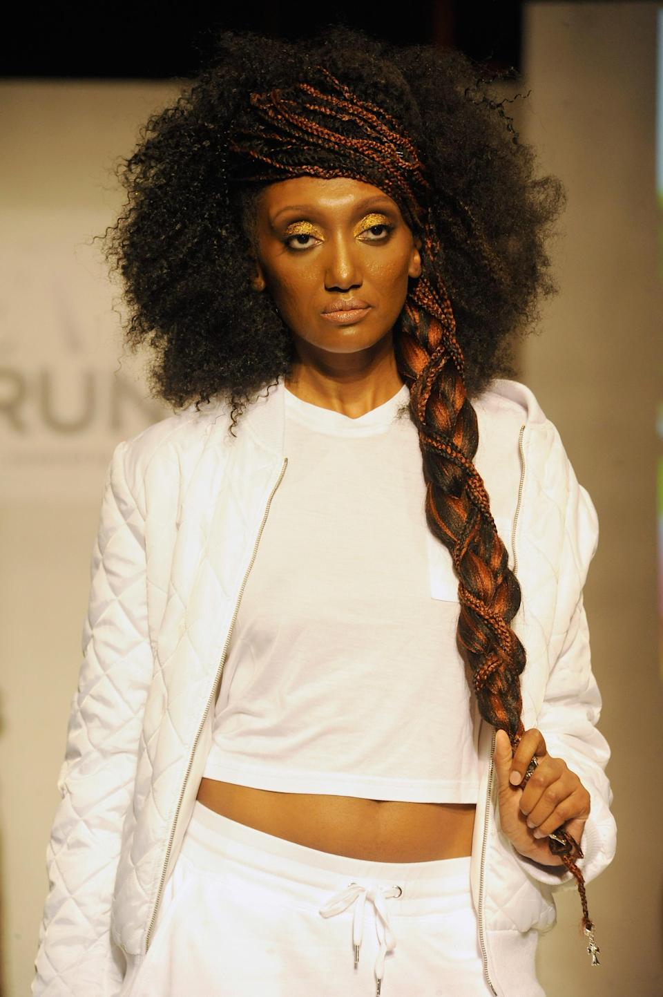 <p>When an Afro meets a beautiful side braid, you are left with an amazing creation. (Photo: Getty) </p>