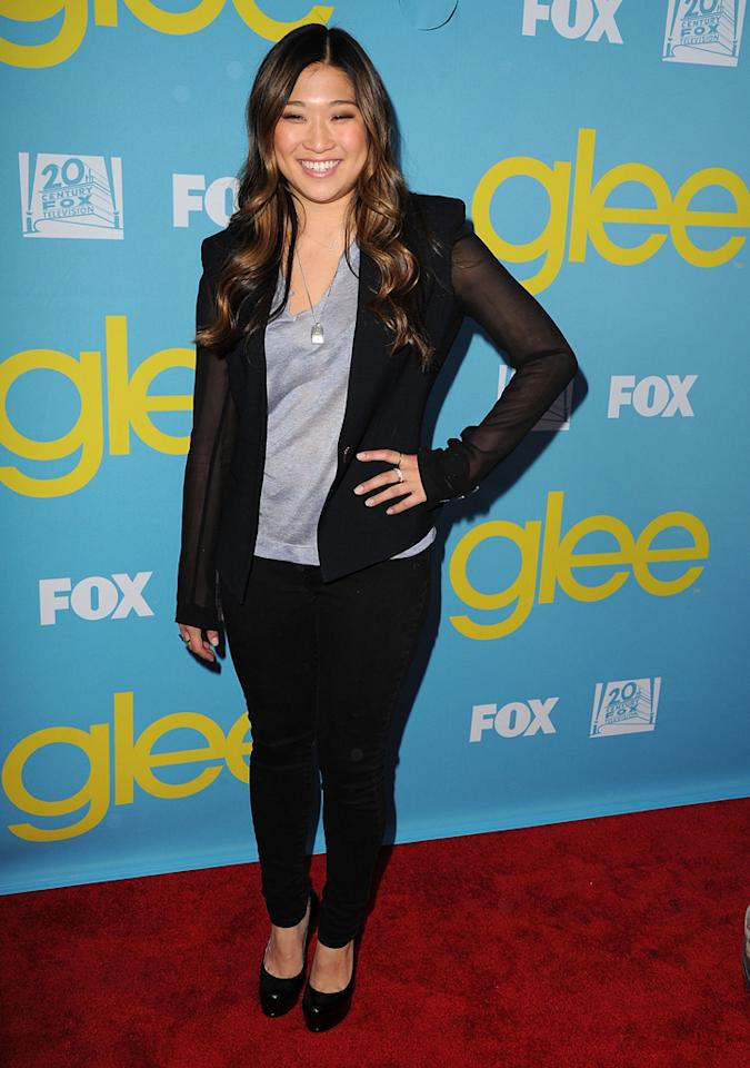"Jenna Ushkowitz attends a special screening of ""<a target=""_blank"" href=""http://tv.yahoo.com/glee/show/44113"">Glee</a>""  hosted by The Academy of Television Arts & Sciences at Leonard H.  Goldenson Theatre on May 1, 2012 in North Hollywood, California."